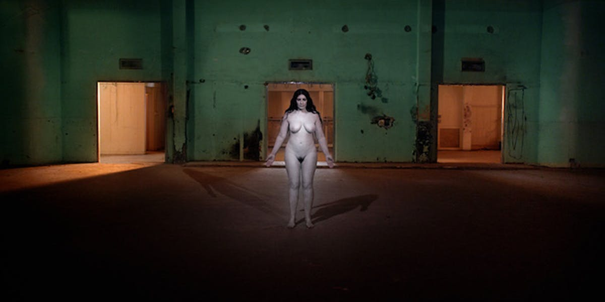 3D nude portrait of Marina Abramovic comes to Hudson's Second Ward Foundation
