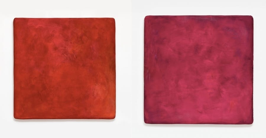 Gotthard Graubner, Colour space body II (left) and Colour space body I (right) 1997