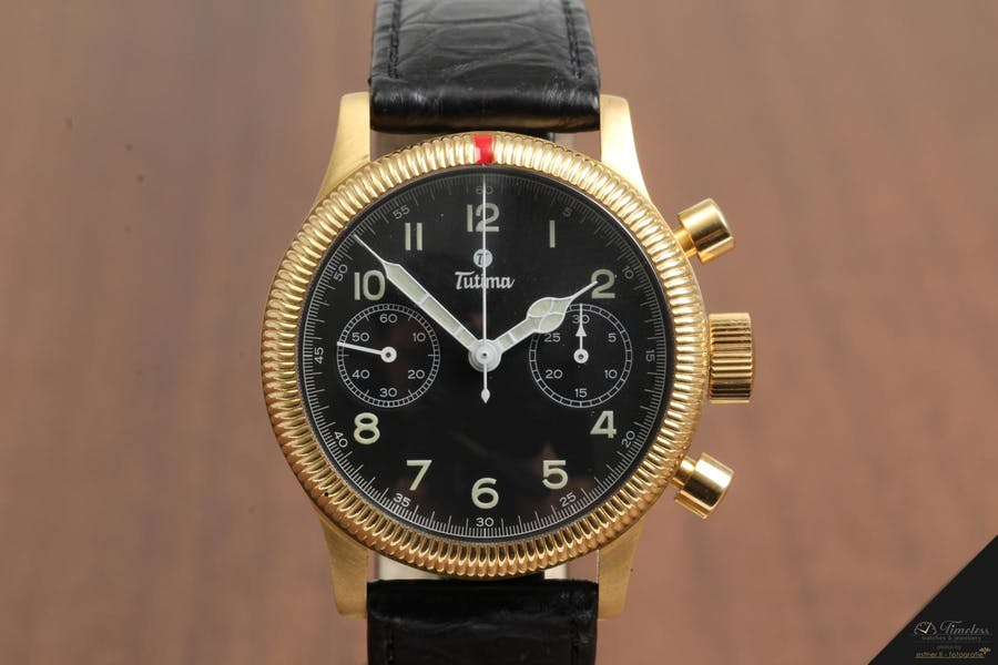 Tutima Fliegerchronograph Classic 1941 18K Gold | Foto: Timeless Watches & Jewellery
