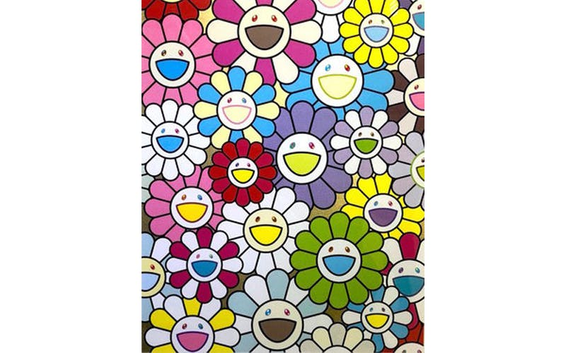 Takashi Murakami, « A little flower painting », 2018, sérigraphie, image ©Alyes Auctions