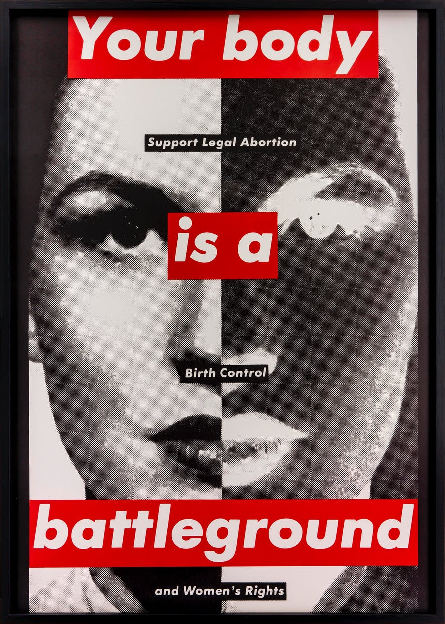 """Untitled (Your Body is a Battleground)"", Barbara Kruger, 1989. Foto: Jochen Arentzen, Courtesy of the artist and Sprüth Magers via Nationalmuseum."