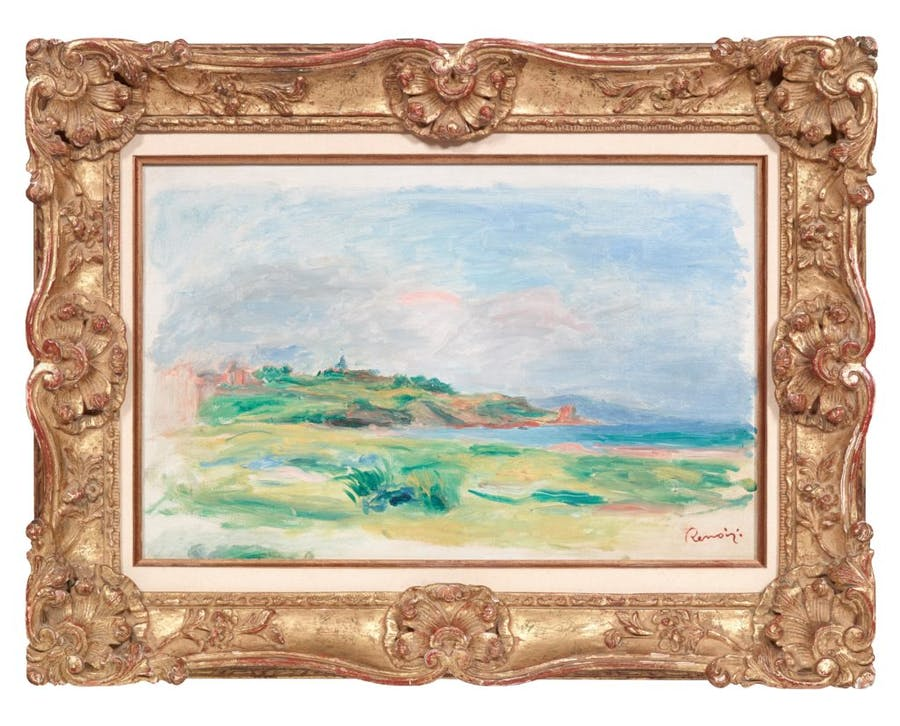 Gulf, Sea, Green Cliffs by Renoir (1892) that was stolen from Dorotheum auction house, Vienna. Image: CNN