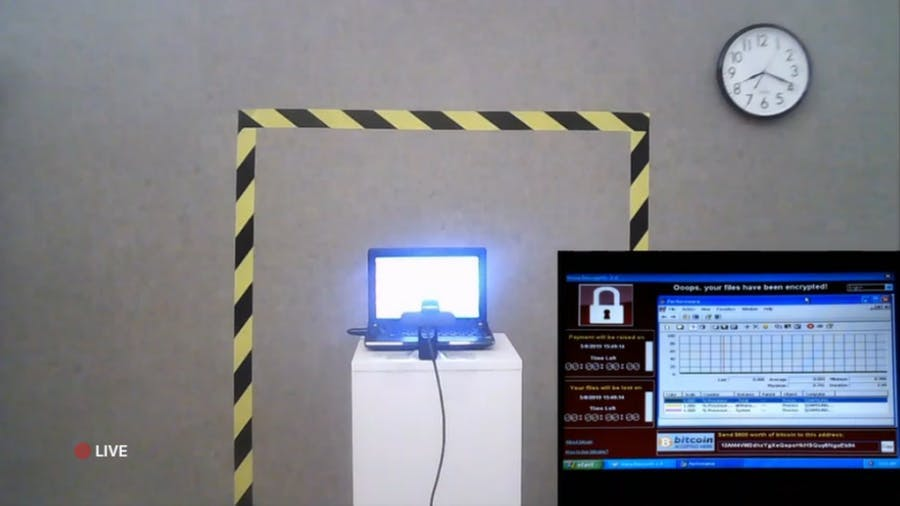 The computer and its viruses visible live on the dedicated site. Image © The Persistence of Chaos