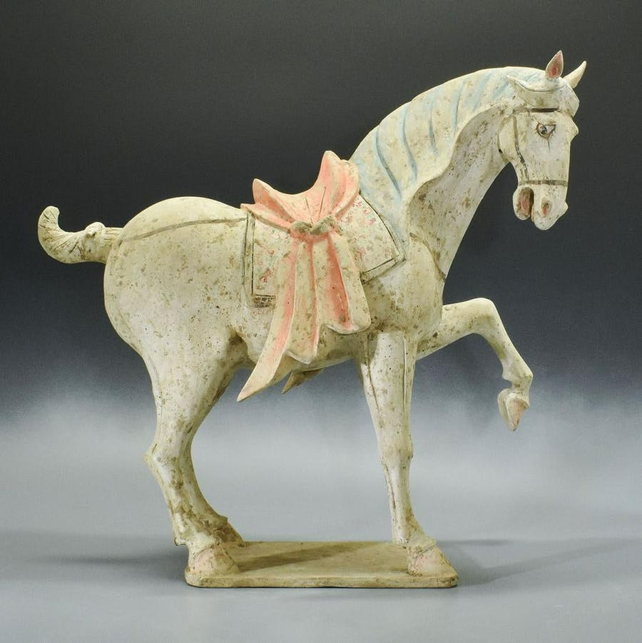 Cavallo in terracotta cinese, Wei del nord