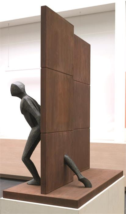 Guy Buseyne, The Wall, Bronze, signed and numbered from an edition of 49, H 169cm, W 141cm