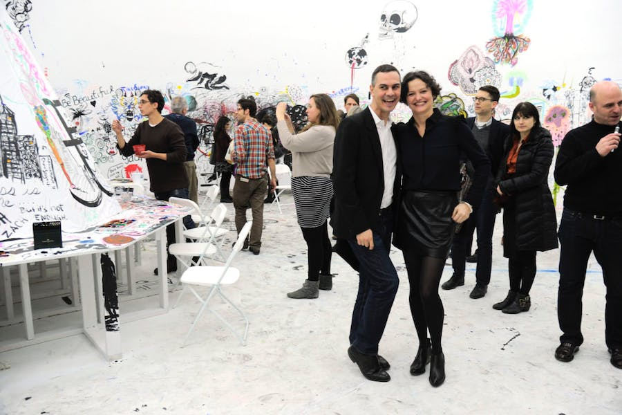 Cecilia Alemani e Massimiliano Gioni. Opening celebration for PAWEL ALTHAMER and LAURE PROUVOST exhibitions at New Museum on the Bowery, NYC, 2014. ©Patrick McMullan