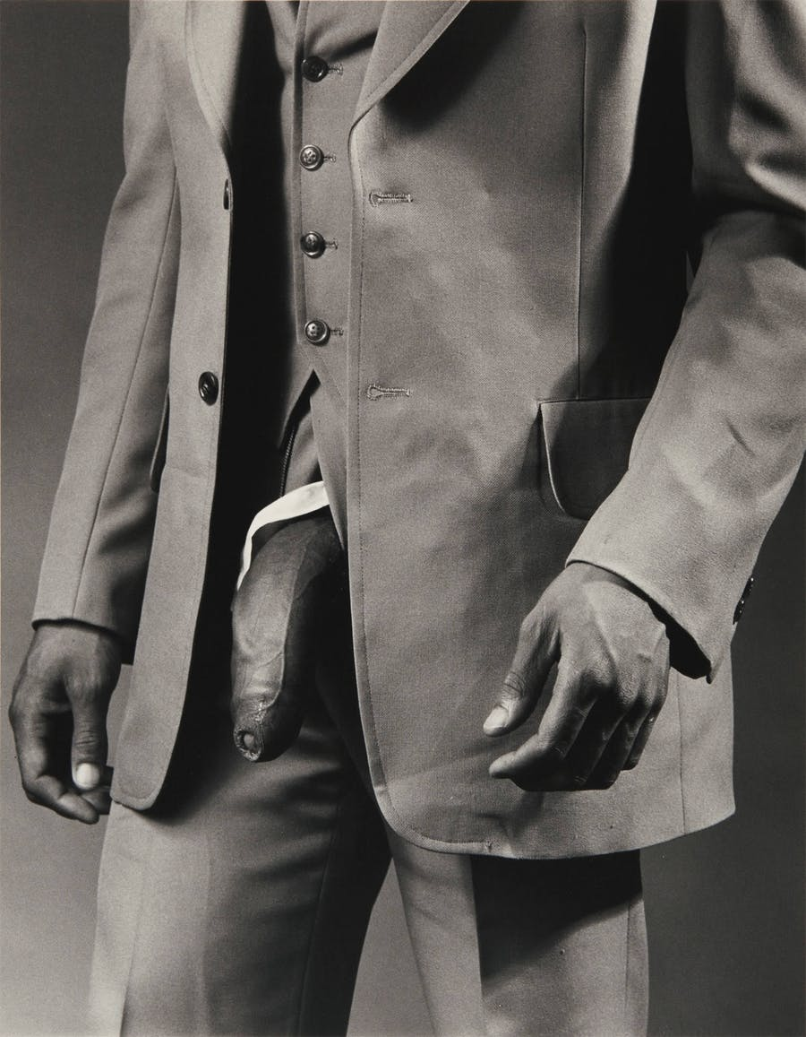 Robert Mapplethorpe, Man in Polyester Suit (1980) Image: courtesy of Sotheby's