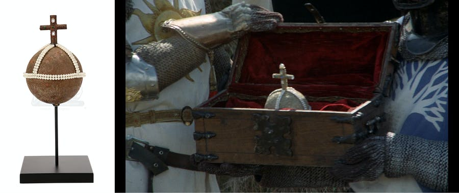 'Monty Python and the Holy Grail' (1975), Holy Hand Grenade of Antioch. Photo: Prop Store