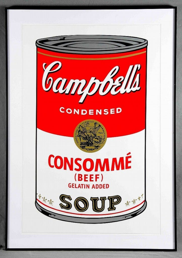 "ANDY WARHOL - ""Campbell's Soup Can 11.52. Consomme Beef"", Lithografie (1988)"