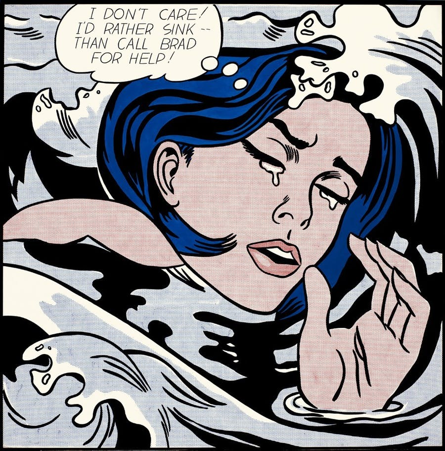 Roy Lichtenstein, Drowning Girl, 1963, collection du MoMA, New-York