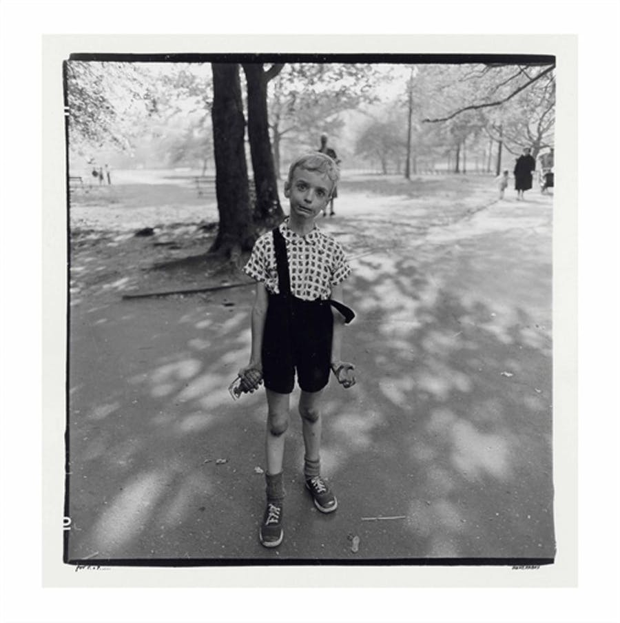 Diane Arbus, Child with a Toy Hand Grenade in Central Park, NYC, 1962, image © Christie's