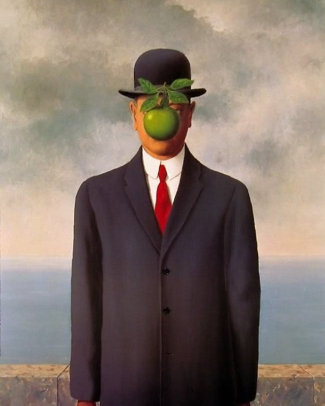René Magritte, The Son of Man, 1946 | Abb. via renemagritte.org