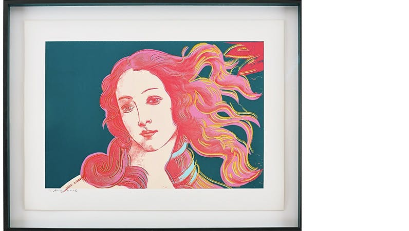 ANDY WARHOL (1928-1987) - Details of Renaissance Paintings (Sandro Botticelli, Birth of Venus, 1482), Siebdruck, nummeriert und signiert, 1984
