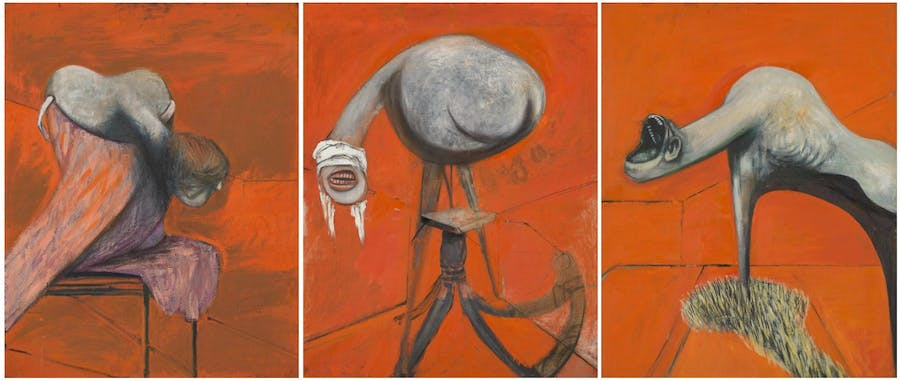 Francis Bacon, Three Studies for Figures at the Base of a Crucifixion, 1944, image ©Tate
