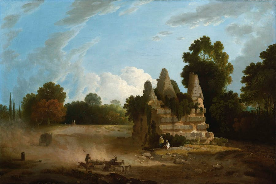 Lot 19  RICHARD WILSON R.A. (WELSH 1714-1782) | THE TOMB OF THE HORATII AND CURIATII  Estimation £15,000-20,000