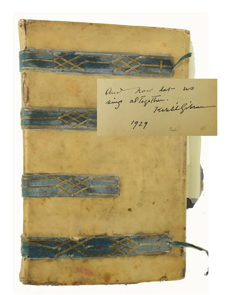 Khalil Gibran Signed Unpublished Quotation in Autograph Album with Other Famous Luminaries