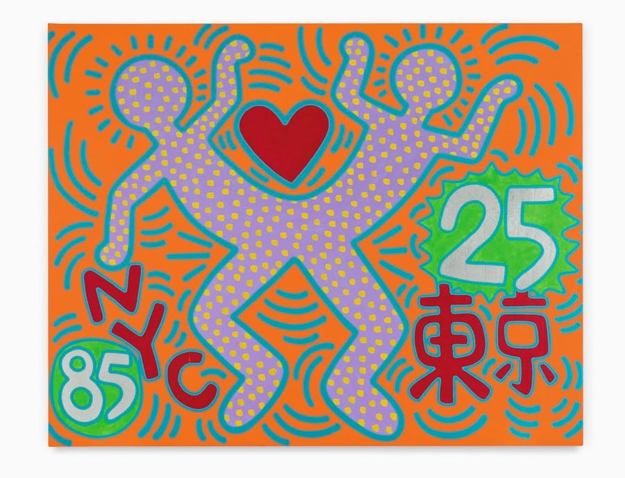 """KEITH HARING. """"Sister Cities - For Tokyo"""" (1985)"""