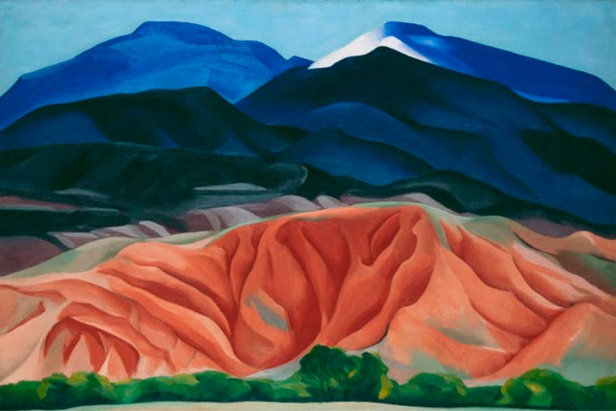 "GEORGIA O'KEEFFE. ""Black Mesa Landscape. New Mexico: Out Back of Marie's II"" (1930)."