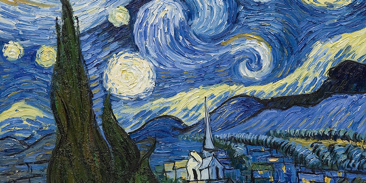 Vincent van Gogh, 'Starry Night', 1889. Photo: Murals Wallpaper