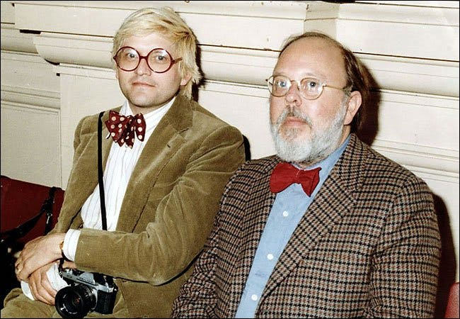 David Hockney and Henry Geldzahler. Photo: Palm Pictures