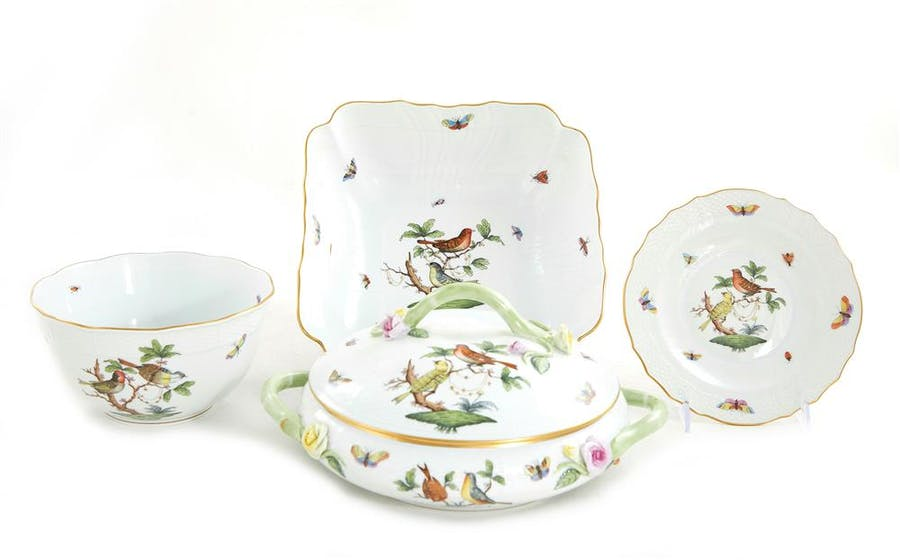 Herend Rothschild pattern partial dinner service (65pcs)