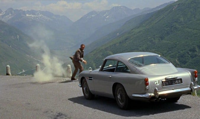 "Aston Martin DB5 im 007-Film ""Goldfinger"" 1963"