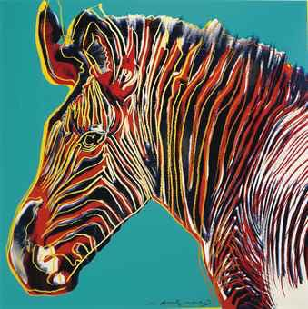 ANDY WARHOL (1928-1987) Grevy's Zebra, from Endangered Species Christie's