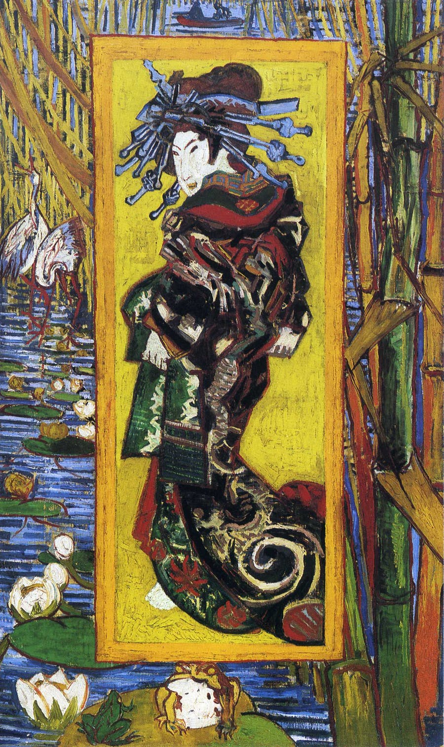 Vincent van Gogh, 'Japonaiserie: Oiran, after Kesaï Eisen', 1887. Photo: artvan-Gogh
