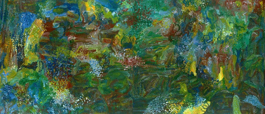 EMILY KAME KNGWARREYE (vers 1910-1996) - Earth's Creation I, Peinture polymère synthétique sur lin belge, 1994