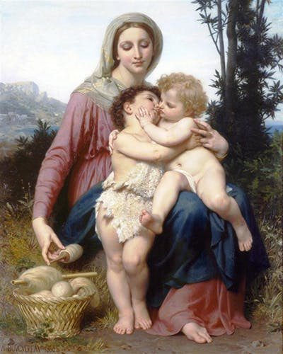 La Sainte Famille (The Holy Family), William Bouguereau. 1863, olja på duk. Bild: WilliamBouguereau.org