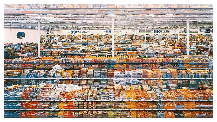 Andreas Gursky, 99 cent , 1999