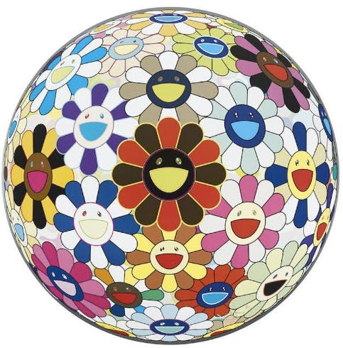 TAKASHI MURAKAMI, Flower Ball (3D) Sexual Violet no. 1, 2013