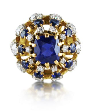 René Boivin Bague de cocktail saphirs et diamants Humphrey Butler