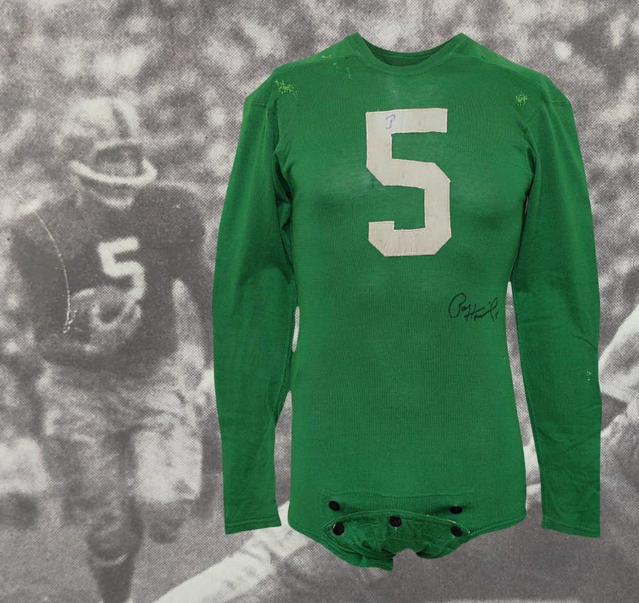 1956 Paul Hornung Notre Dame Fighting Irish Game-Used & Autographed Jersey