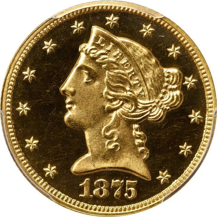 1875 Liberty Head Half Eagle