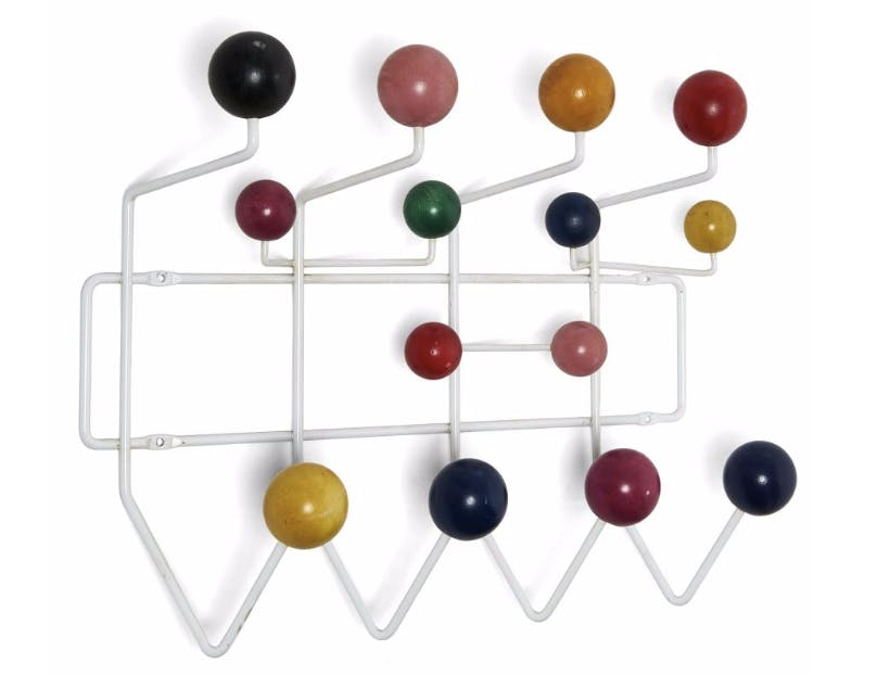 "Charles & Ray EAMES (1907-1978 & 1912-1988) Porte-manteau dit ""Hang-It-All"" Artcurial"
