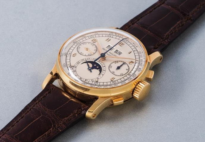 Patek Philippe Ref. 1518 en or jaune © Phillips