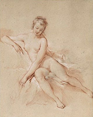 François Boucher - A seated female nude Adjugé pour 326 000 euros chez Christie's à New York le 24 janvier 2008