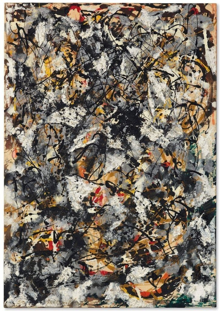 Jackson Pollock, 'Composition with Red Strokes', 1950   Foto: Christie's