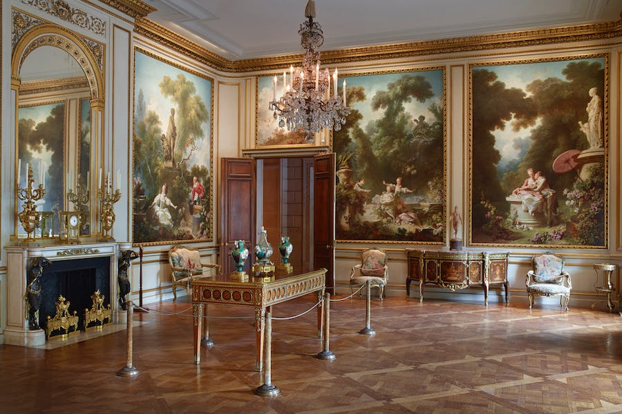 """Fragonard's series of paintings """"The Progress of Love"""" is now part of the Frick Collection. Image: Michael Bodycomb via The Frick Collection"""