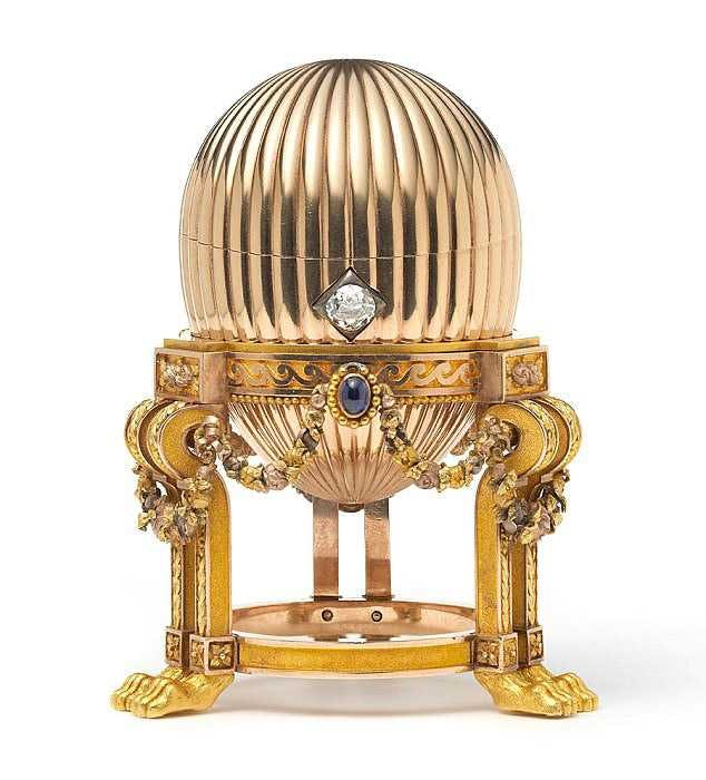 The egg was manufactured by Fabergé in the year 1886-87 and was subsequently sold for about £17.5 million. Photo: Wartski