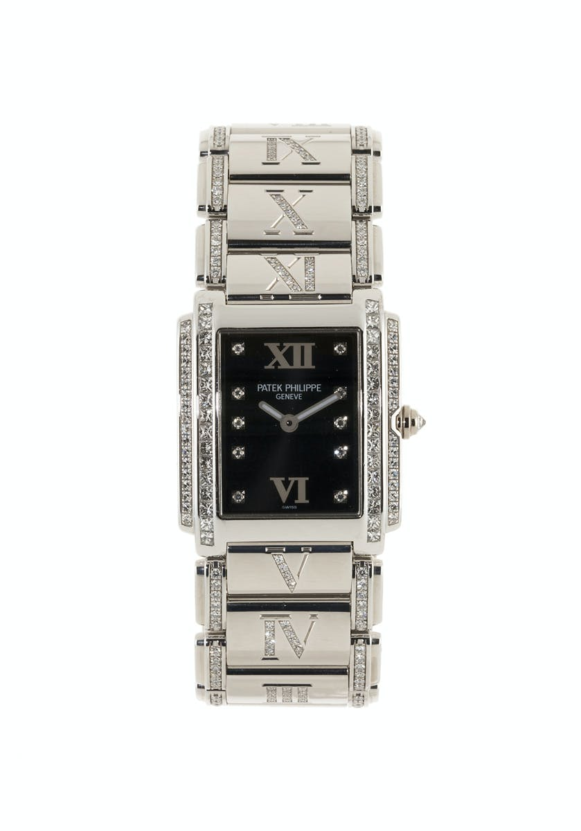 Patek Philippe, Twenty 4 Montre-bracelet en or gris sertie de diamants