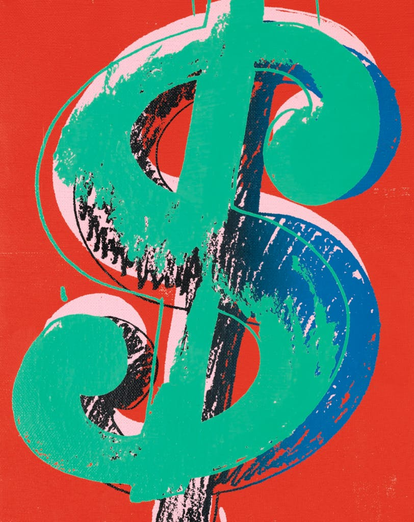 Andy Warhol, «Dollar Sign», 1982, image ©Sotheby's