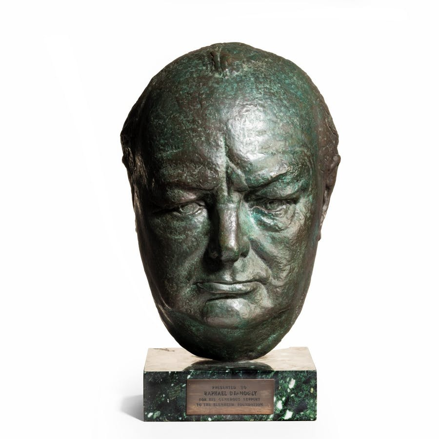 The Blenheim Foundation mask of Sir Winston Churchill by Clare Sheridan, c. 1942. Photo: Wick Antiques