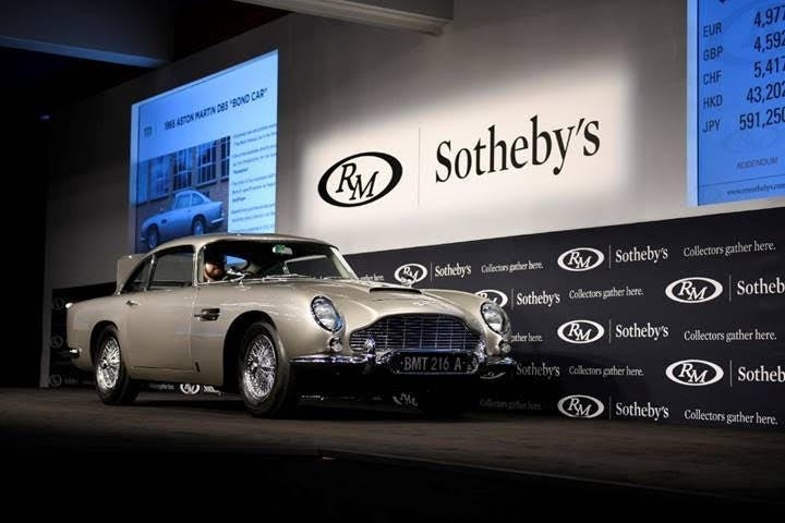 Sold on 15 August 2019, this is the most expensive Aston Martin DB5 sold at auction. Photo: RM Sotheby's