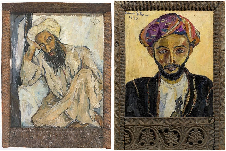 Links: Irma Stern, Arab Priest (1945) Rechts: Irma Stern, Arab in Black (1939) | Beide Fotos via Artnet
