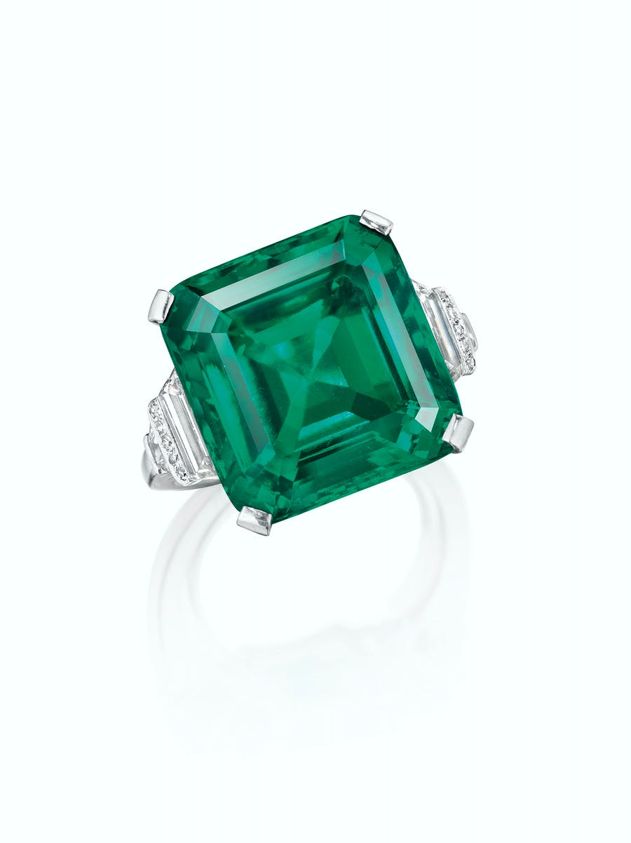 The Rockefeller 18-carat emerald that sold for $5.5 million in 2017. Image: Christie's