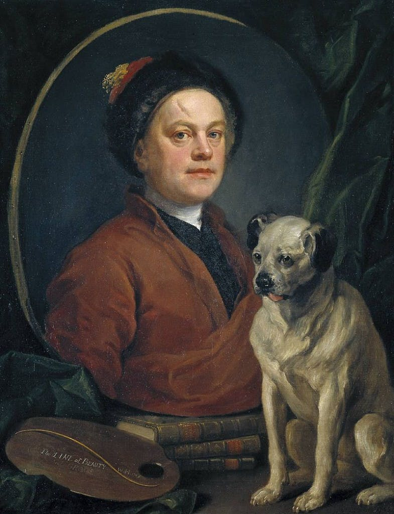 William Hogarth - The Painter and his Pug, 1745