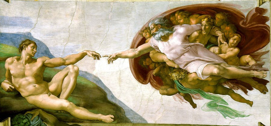 Michelangelo Buonarroti (1475-1564), The Creation of Adam, 1508-12 | Photo via Wikimedia