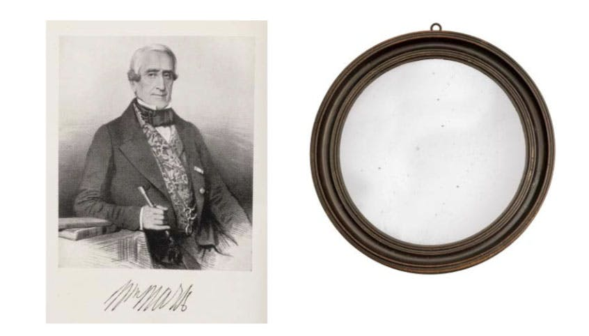 The shaving mirror or Purser Wardlaw. Photo: Wick Antiques
